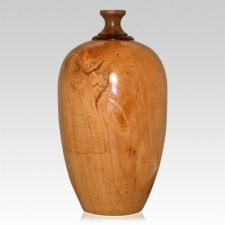 Cupid Wood Cremation Urn