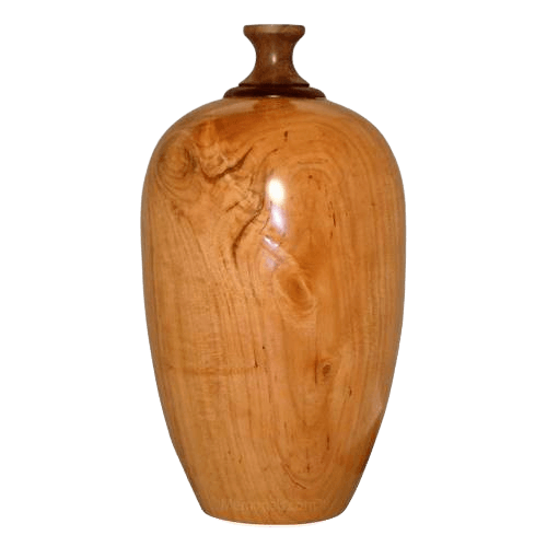Cupid Wood Cremation Urn