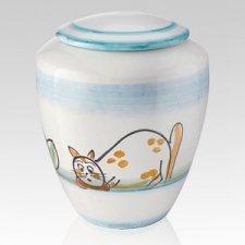 Curioso Ceramic Cat Urn