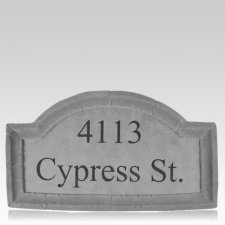 Customized Crescent Large Address Plaque