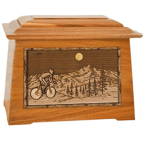 Cycling Mahogany Aristocrat Cremation Urn