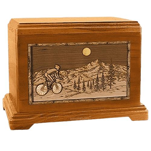 Cycling Mahogany Hampton Cremation Urn
