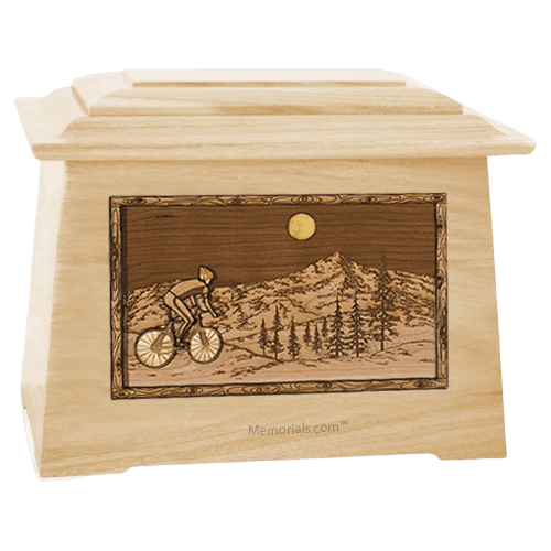 Cycling Maple Aristocrat Cremation Urn