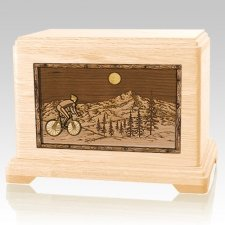 Cycling Maple Hampton Cremation Urn