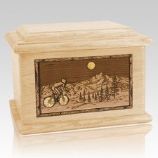 Cycling Maple Memory Chest Cremation Urn