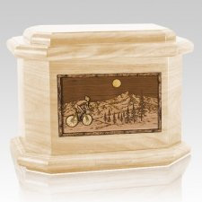 Cycling Maple Octagon Cremation Urn