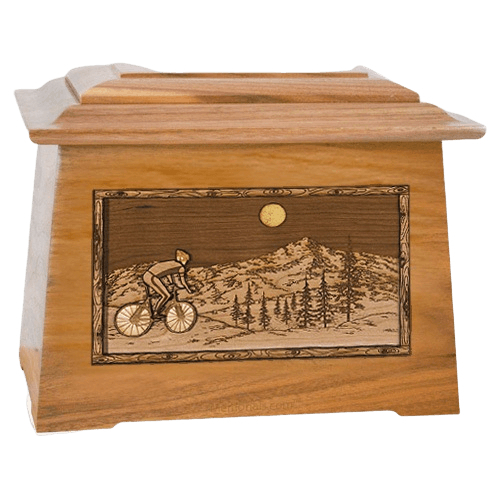 Cycling Oak Aristocrat Cremation Urn