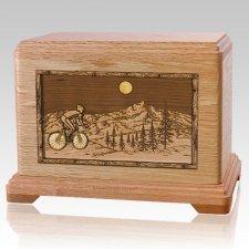 Cycling Oak Hampton Cremation Urn
