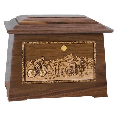 Cycling Walnut Aristocrat Cremation Urn
