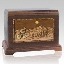Cycling Walnut Hampton Cremation Urn