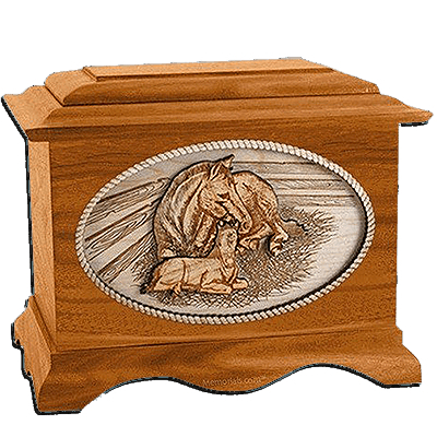 Daddys Love Mahogany Cremation Urn for Two