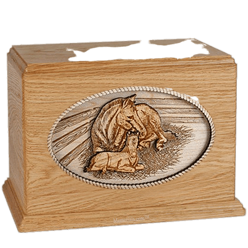 Daddys Love Oak Companion Urn