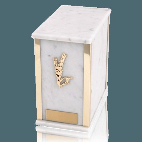Designer Bianco Carrera Marble Cremation Urns
