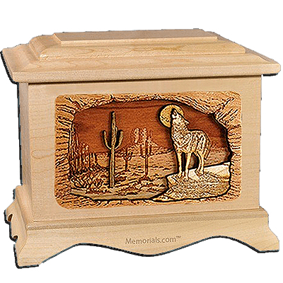 Desert Moon Maple Cremation Urn for Two