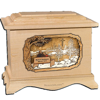 Devoted Maple Cremation Urn for Two