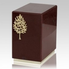 Dignity Rosso Laguna Marble Cremation Urn