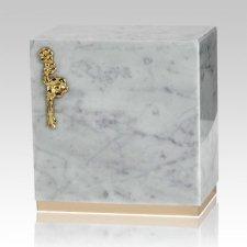Dignity Bianco Carrera Marble Urn
