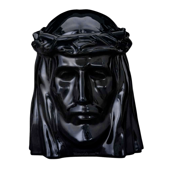 Christ Black Cremation Urn