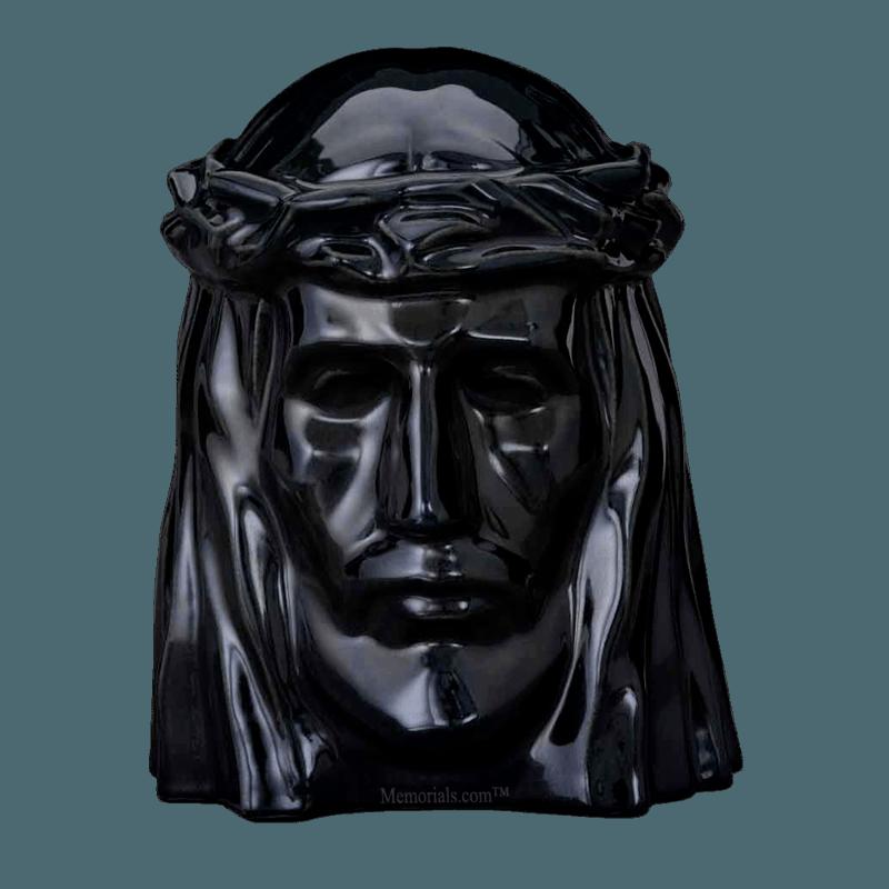 Christ Black Cremation Urn
