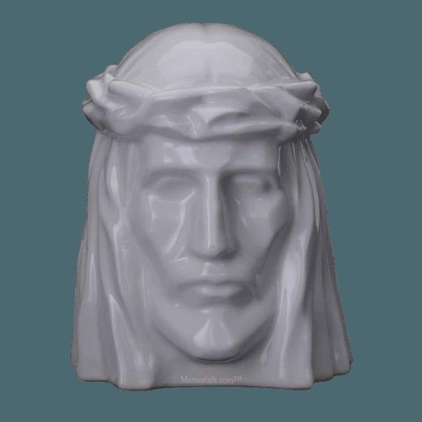 Christ White Cremation Urns