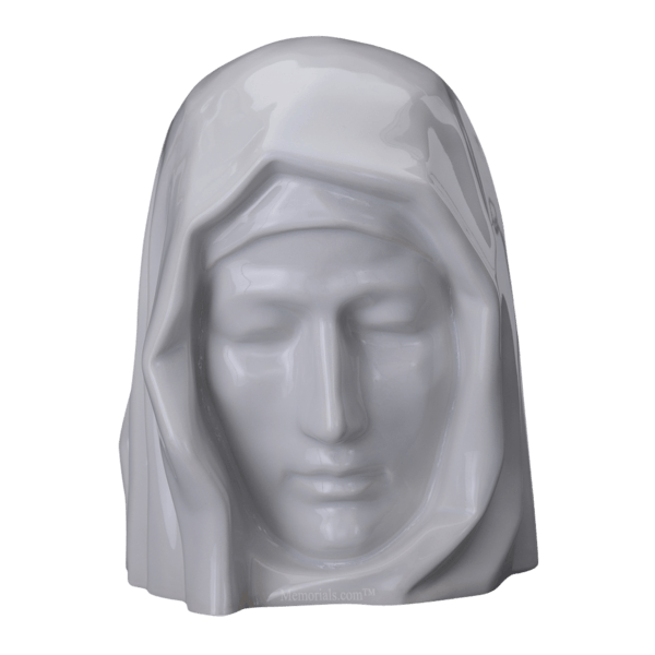 Holy Mother White Cremation Urns