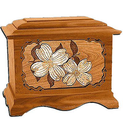 Dogwood Mahogany Cremation Urn for Two