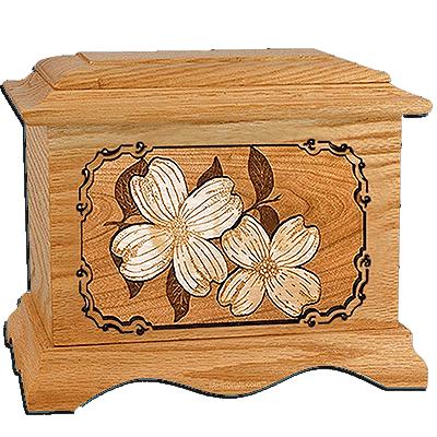 Dogwood Oak Cremation Urn for Two