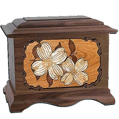 Dogwood Walnut Cremation Urn For Two