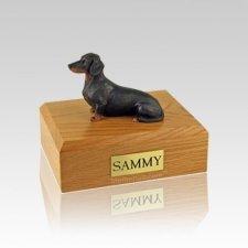 Dachshund Black Guard Small Dog Urn