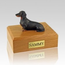 Dachshund Black Guard Dog Urns