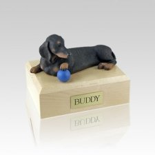 Dachshund Black Playing Small Dog Urn