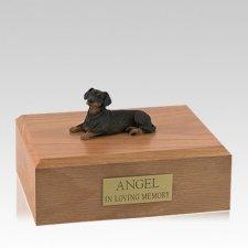 Dachshund Black Resting Large Dog Urn