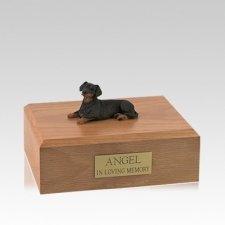 Dachshund Black Resting Medium Dog Urn