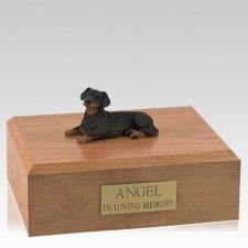 Dachshund Black Resting Dog Urns