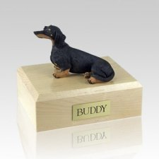 Dachshund Black Sitting Dog Urns