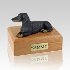 Dachshund Black X Large Dog Urn