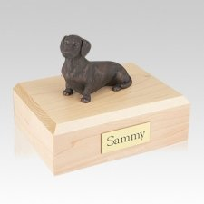 Dachshund Bronze Large Dog Urn