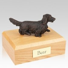 Dachshund Bronze Long-Haired Dog Urns