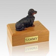 Dachshund Long-Haired Black Large Dog Urn