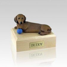 Dachshund Red Playing Small Dog Urn