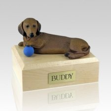 Dachshund Red Playing Dog Urns