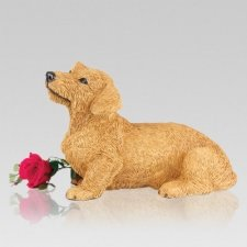 Dachshund Red Wirehair Cremation Urn
