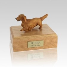 Dachshund Walking Small Dog Urn