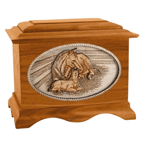 Daddys Love Mahogany Cremation Urn
