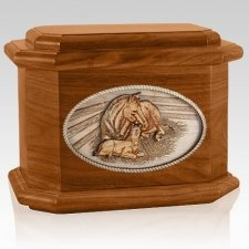 Daddys Love Mahogany Octagon Cremation Urn