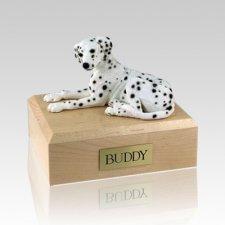 Dalmatian Laying Large Dog Urn