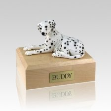 Dalmatian Laying Medium Dog Urn