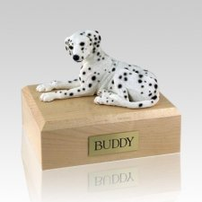 Dalmatian Laying Dog Urns