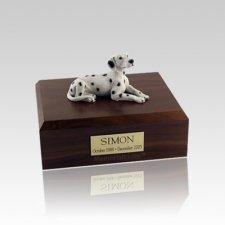 Dalmatian Resting Small Dog Urn