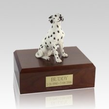 Dalmatian Seated Medium Dog Urn